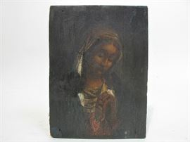 19th century painting of the virgin mary