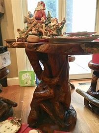 Base of Teakwood table