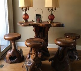 Teakwood Table with 4 chairs