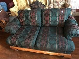 Love seat with matching sofa.