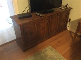 Flat screen and cabinet