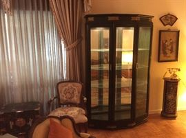 Black lacquer glass cabinet