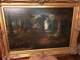 Vintage oil painting by James Wallace circa 1881