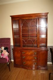Duncan and Phyfe  cherry china hutch