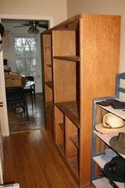 Oak book case  Has glass doors if needed