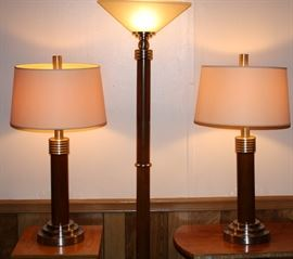Nice contemporary lamp set