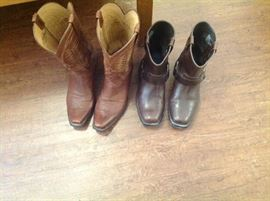 Men's boots and lots of clothes