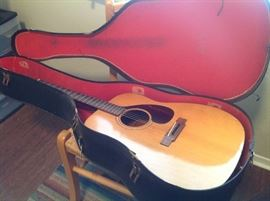 Yamaha accoustic guitar and case