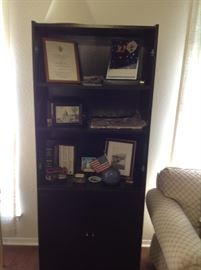 Storage unit holds some mementoes of Bill Clinton's inauguration.