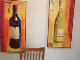 Wine art on canvas.