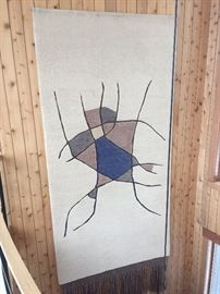 BUY IT NOW! Large wall hanging approx. 13' long X 6' wide purchased in the late 1960's on a family trip to the Galapagos Islands in Ecuador. $1500-