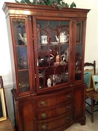 "China cabinet filled with ""treasures"" ----- great storage and display space"