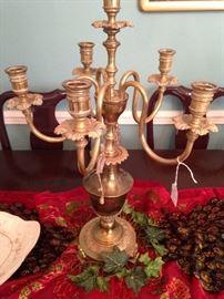 Lovely brass candelabra