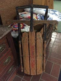 Closeup of vintage sled