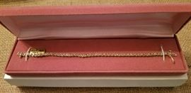 14K Gold w/1 Carat TDW Tennis Bracelet