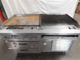 Southbend Flat Top Grill and Char Broiler with 2 D ...