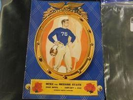 1942 Duke v.s Oregon St. Rose Bowl Program