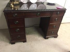 Duncan Phyfe Antique knee hole desk
