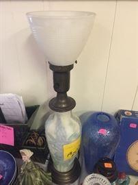Antique Phoenix glass lamp