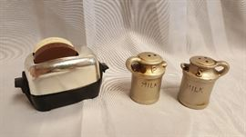 Vintage Toaster & Milk Jug S&P Shakers