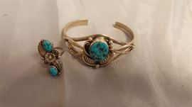 Sterling and Turquoise