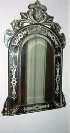 INCREDIBLE ETCHED VENETIAN MIRROR