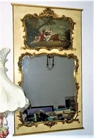 THIS IS A LARGE MIRROR , APPROX. 4  1/2  to  5 FT TALL. GORGEOUS !