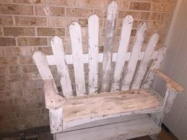 VINTAGE WOODEN BENCH                        (SOLD)
