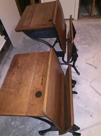 ANTIQUE SCHOOL DESKS