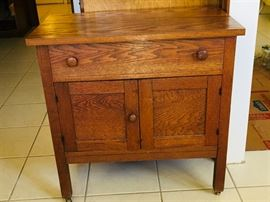 ROLLING WOODEN CABINET
