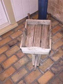 WOOD WHEELBARROW                   (SOLD)