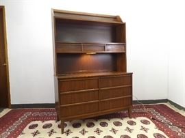 Mid Century DIXIE 2 Piece Hutch