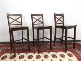 3 Wood Bar Stools