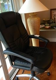 black pleather office chair perfect condition.