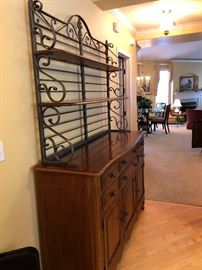 Drexel Heritage buffet  with removable bakers rack- New Condition