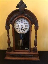 Large antique mantle clock