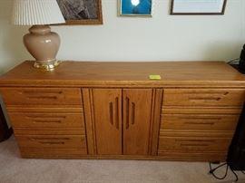 Long Oak Dresser, $50