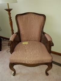 Rose rattan chair, $25