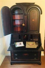 Gorgeous antique black walnut secretary