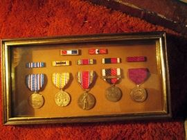 Living Room: Man was in the Navy WW2-His medals