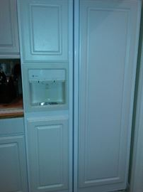 Side x Side Refrigerator with White Panel Front