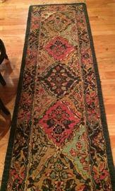 No. 7 Runner; wool on cotton; machine made; modern era; Size: 7.7 x 2.4 Located in Kitchen