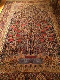 "No. 1 Indo-Persian ""Tree of Life""; handknotted; wool on cotton; Excellent condition; 20th C; Size: 6 x 9 Found in living room"