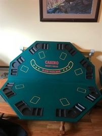 """#7casino top for a card table  47""""diameter $25.00"""
