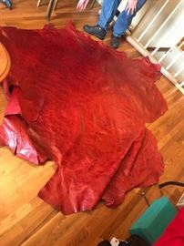 #10Red Leather 47/75  Roughly 107x102 $125.00