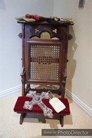 Antique prayer kneeler
