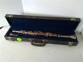 Elkhart Silver Plated Clarinet with Hard Case