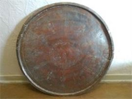 Etched Turkish Copper Tray
