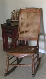 cane rock chair