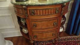 Pair of Marble top Consoles $3,000 each